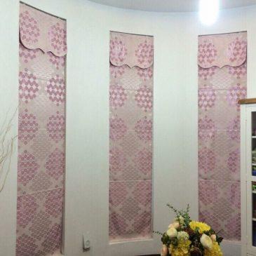 Rèm vải gấm in hoa