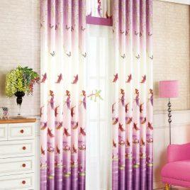 Rèm vải gấm in hoa (2 mặt)